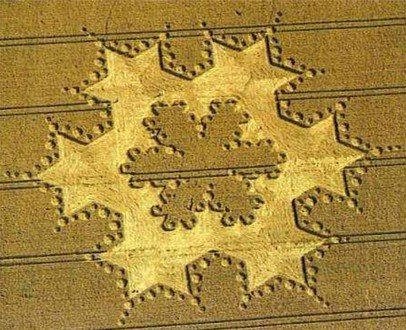 crop circle fractale de Koch
